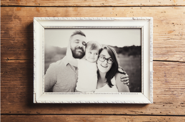 Budget-friendly and thoughtful, a framed family portrait is ideally suited as a Mother's Day present.