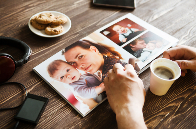 A family scrapbook is a budget-friendly Mother's Day gift that any mom would cherish.