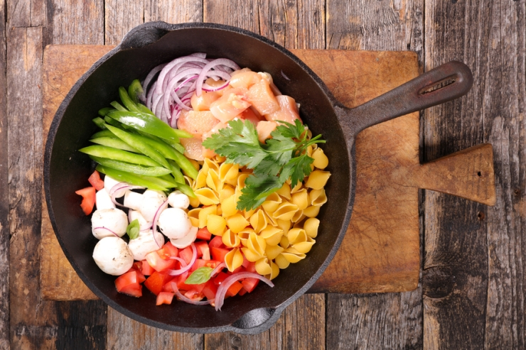 One pot pasta is healthy, filling, and easy to make.